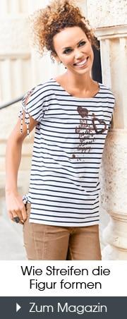 Mode mit Streifen